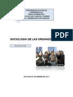 La sociología de las organizacionespao. Jesenia