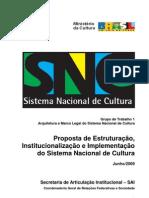 Proposta de Estruturação, Institucionalização e Implementação do Sistema Nacional de Cultura