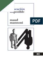 159761579 La Educacion Imposible Maud Mannoni