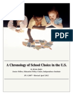 A Chronology of School Choice in the U.S.
