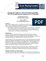 Shining the Light on Colorado School Spending