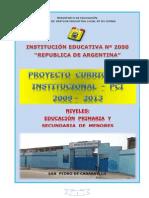 PCI - I.E Nº 2050 - 2009 - 2013
