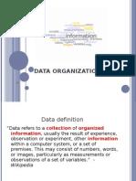 Data Organization