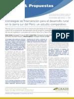 Estrategias de intervención para el desarrollo rural en la sierra sur del Perú