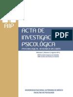 Acta de Investigaci+¦n Psicol+¦gica, Abril 2012. Vol. 2, No. 2_