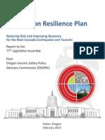 Oregon Resilience Plan Final