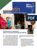 Transferencias y Condiciones: Efectos no previstos del Programa JUNTOS
