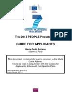 Guide for Applicants (General Part) CIG 2013 En