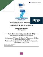 Guide for Applicants (Specific Part) CIG 2013 Version19022013 En