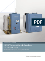 Catalogue Sion Vacuum Circuit Breakers En
