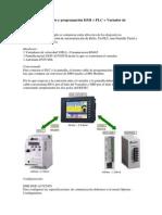 Ejemplo conexionado y programación HMI