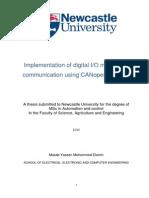 MSc Disertation CANopen IO Card Implementation