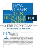 How to Save the Republican Party, A Five-Point Plan - Michael Gerson, Peter Wehner - Commentary - March 2013