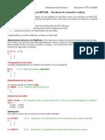 práctica Algebra lineal con MATLAB