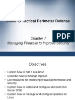 Tactical Perimeter Defense Managing a Firewall