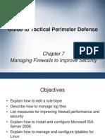 Tactical Perimeter Defense Managing a Firewall