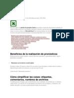 MÉTODOS Y FÓRMULAS DE PRONÓSTICO CON EXCEL