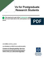 Cvs for Postgraduate Students