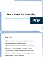 Oracle Production Scheduler Training Document