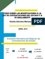 Curso Modificaciones Lce y Rgto 08, 10 y 12 Abril 2013