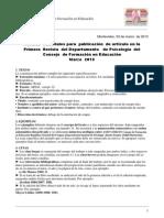 Normas Editoriales Revista 2 Dpto. de Psicologia 2013