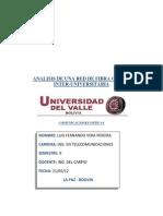 Analisis de Una Red de Fibra Optica Luis Vera
