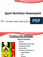 sport nutrition powerpoint