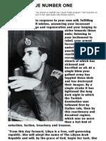 Libyan Communique No.1, 1 September 1969