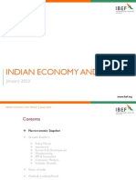 Indian Economy and Trends January 2013