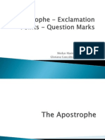 Apostrophe - Question Mark and Exclamation Pointp