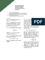 Prova 1 de Cálculo II - Engenharia Industrial Madeireira - UFPR