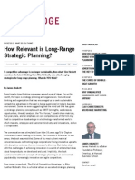 How Relevant is Long-Range Strategic Planning