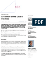 Economics of the Ethanol Business — HBS Working Knowledge