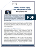 The Keys to China Supply Chain Management Success