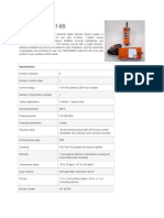Datasheet Control Remoto F21-6S