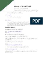 Password Recovery Cisco ME3400