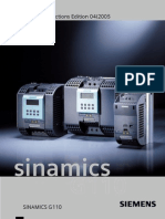 Siemens Drives - SINAMICS G110 Operating Instructions