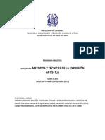Tecnicas Metodos de La Expresi%F3n Programa B-2010