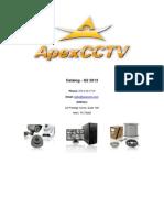 Apex CCTV - Catalog Q2-2013