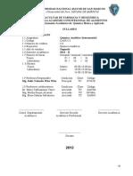 syllabus de Química Analítica Instrumental