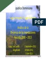 Lago Enriquillo Dinamica Inundaciones 2000-2013 Luis Cuevas