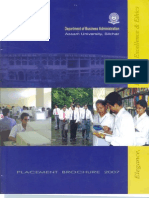 Assam University Placementl Profile 2006-07