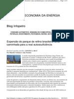 expansão do parque de refino brasil