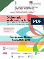 Diplomados en DDHH de AUSJAL - afiches de la cohorte 2014