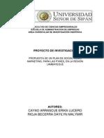 Rioja y Cayaoo - Proyecto - Marketing