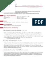 Paramedic Resume