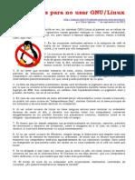 10 Razones Para No Usar GNU-Linux