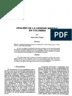Analisis de La Genesis Mineral en Colombia_Jaime Galvis