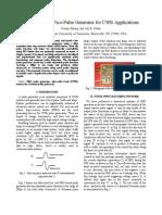 Reconfigurable PicoPulse Generator for UWB Applications