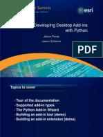Developing Arcgis Desktop Add-Ins Wpython